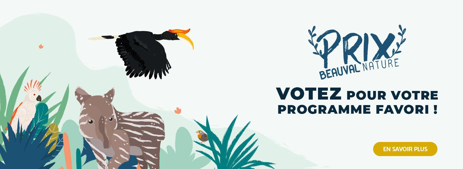Prix Beauval Nature - Votez pour votre programme favori - ZooParc de Beauval
